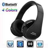 Wireless Bluetooth Stereo Foldable Headset Handsfree Headphones Earphone Earbuds with Mic for iPhone Galaxy HTC