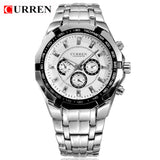 CURREN Brand Men Sports Watches Men Military Wrist Watches Casual Full Steel Men Watch Waterproof