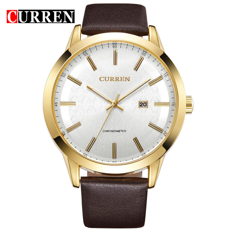 Top Luxury Brand CURREN Original Watches Men Sports Quartz Wrist Watch Black Leather Strap Military Waterproof Men Casual Watch