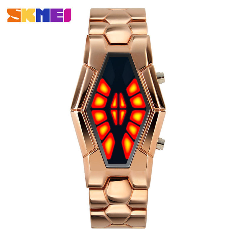 Top Luxury Skmei 1082 Snake Headh Blue/Red Led Watches Men Novelty Designer Men's Military Relogio Masculino Wristwatches