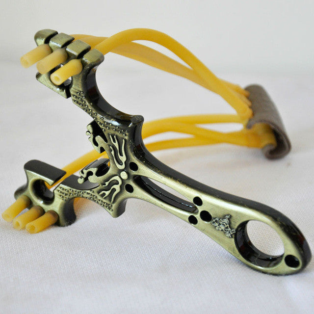 Top Quality Fashion Powerful Wrist Iron Slingshot Traditional Style Toy Outdoor Hunting in the game
