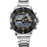 Hot Sale! WEIDE Sports Watches Men's Quartz Military Army Diver Men Full Steel Watch Luxury Brand Famous