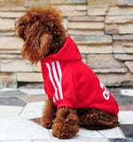 Pet Cat Dog Clothes Fashion Cotton Hooded Coat Shirt Sweater Clothing for Small Big Dogs