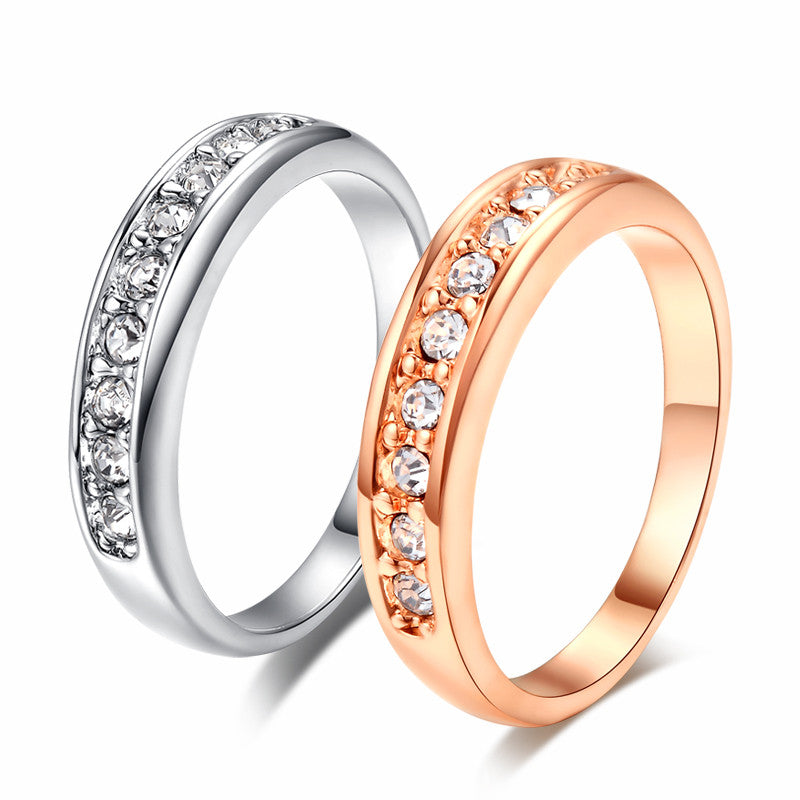 Top Quality Classic Wedding Ring Champagne Gold Plated Ring