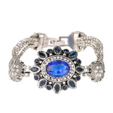 Turkey Jewelry Wholesale Latest Design Bohemian Retro Silver Resin Crystal Bracelet Bracelet For Women