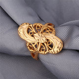 Vintage Engagement Ring Gold Plated Fashion Jewelry Wholesale Trendy Geometric Band Ring For Women