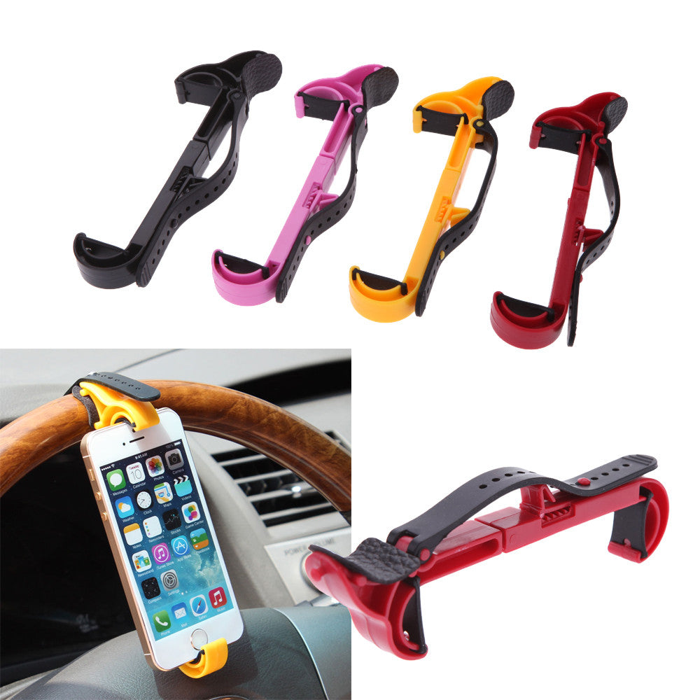 Universal Car Steering Wheel Cell Mobile Phone Holder Bracket Stands for iPhone Samsung Smartphone GPS