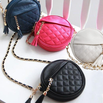 Women handbag fashion women messenger bags vintage shoulder bags mini tassel chain bag pu leather handbags clutch purse