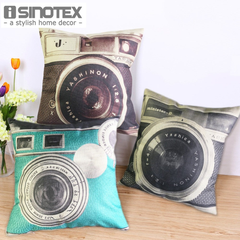 Vintage Camera Cushion 45*45cm/17.7*17.7'' Home Decor