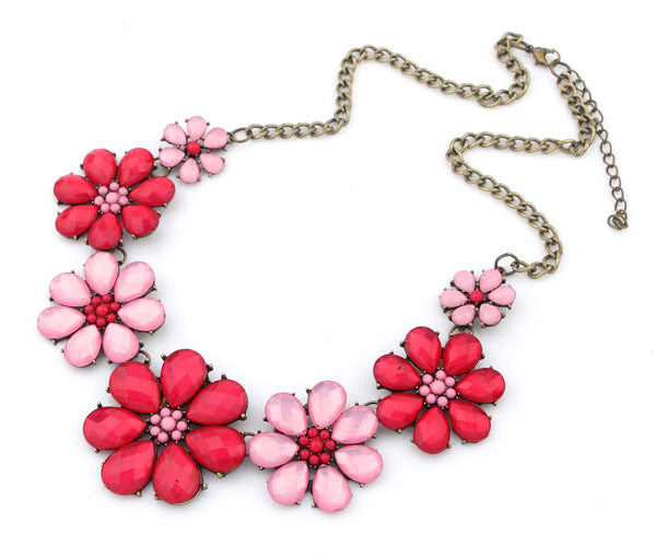 Vintage Jewelry Rhinestone Flower Choker Necklace For Woman New Statement Necklaces Christmas Gift