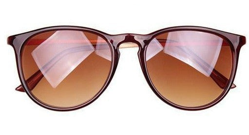 Vintage retro sunglasses women brand designer.Metal thin legs small round frame sun glasses