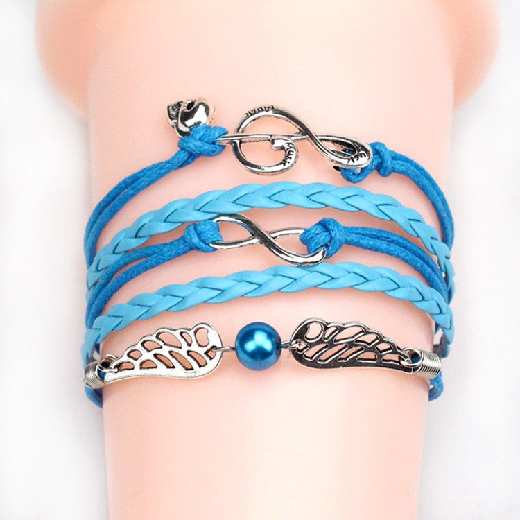 Vintage Anchor Love Bracelets & Bangles Owl Swallow Rudder Men Jewelry Leather Pulseras Women Vintage Set Charm Fashion
