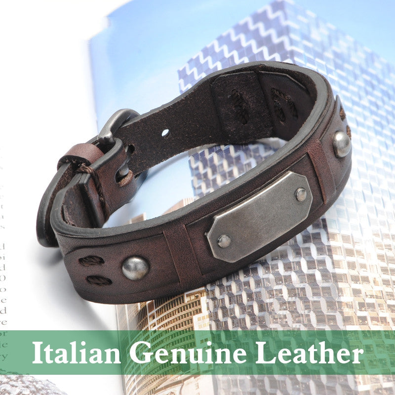 Vintage Bracelet Charm Italian Genuine Leather Bracelets Men Bracelets For Women Best Friends Jewelry