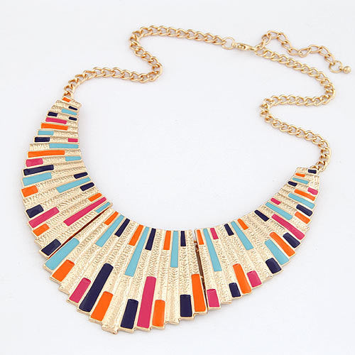 Vintage Choker Statement Necklaces for Women Bijoux Enamel Geometric Choker Collares Collier Fashion Jewelry Maxi Necklace