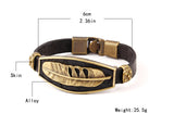Vintage Lobster Plant Alloy Leaf Black Leather Bracelet Alloy Plated Faux Leather Men Bracelets Design Fashion Jewelry