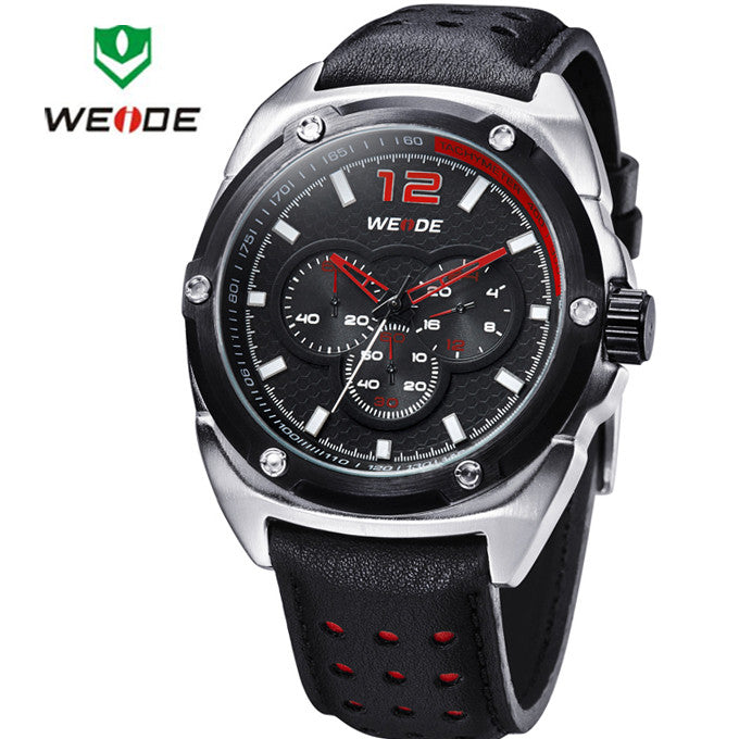 WEIDE New Men's Watch Japan Quartz Military Watch 3ATM Waterproof Sports Watches Men Casual Wrist watch