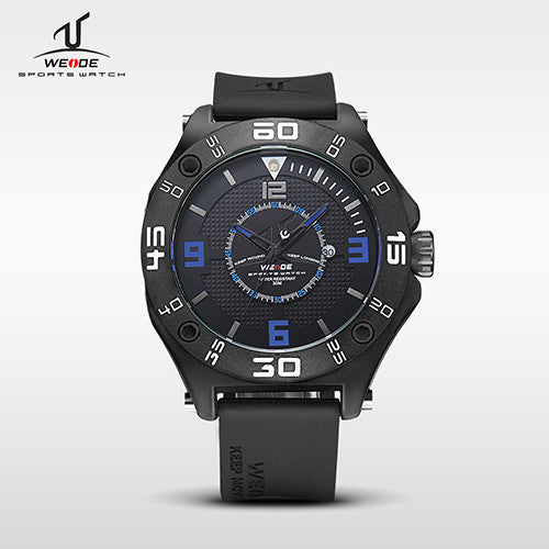WEIDE Brand New Universe Series Quartz Watch Wristwatches Silicone Band Analog Calendar Display Waterproof Suitable For Diving