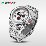WEIDE Luxury Brand New Fashion Wrist Watches For Men Dress Sports Digital Watch With Back Light 3ATM Waterproofed