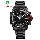 WEIDE Men Sports Military Watch Male Quartz Analog LED Digital 24hour Dispatch Waterproof Multifunction Mens Wristwatches