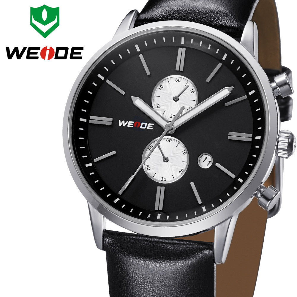 WEIDE New Watch Men's Quartz Watch Military watches Sports Wristwatches leather watch Watch