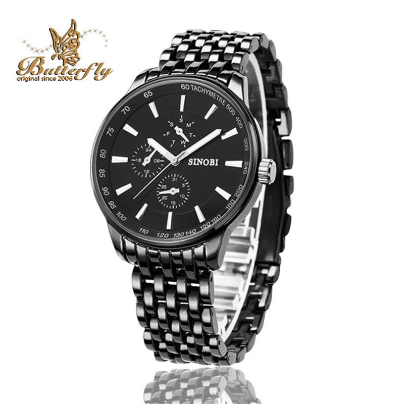 Watches Men Luxury Brand Full Steel Watch Business Quartz Wristwatch Male Waterproof Military Watches Gift Relojes