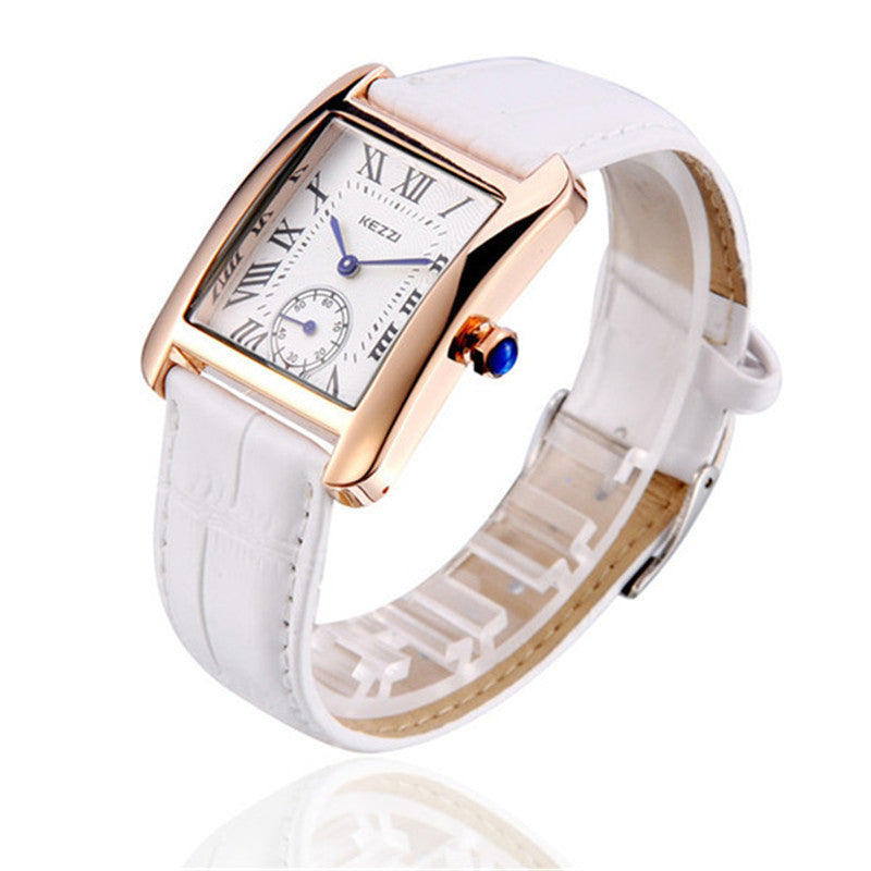 Women High Quality Waterproof KEZZI Brand Leather Strap fashion gold Dress Watch Ladies Quartz Watch