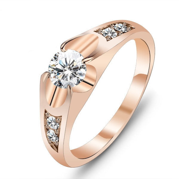 Wedding Ring 18k Gold Plated Polish Rings For Women Fashion Brand Jewelry Antique Rings Accessories