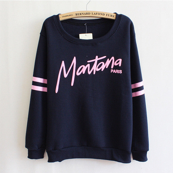 Women Girl Sweatshirt Fleece Hoodies Crewneck Sports Loose Casual Tops shirts
