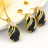 Women's Crystal Jewelry Set BrAND 18K Gold Plated Sets Fashion Party Rhinestone Jewelry Set