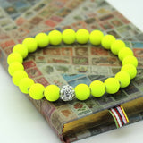 Women Bracelets Bangles 8mm Fluorescent Neon Infinity Cheap Bracelet! Stretch Charm Jewelry