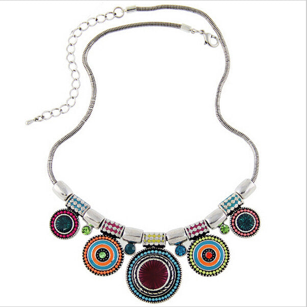 Women Choker Necklace Fashion Charms Rhinestones Chunky Statement Necklace Collares Jewelry