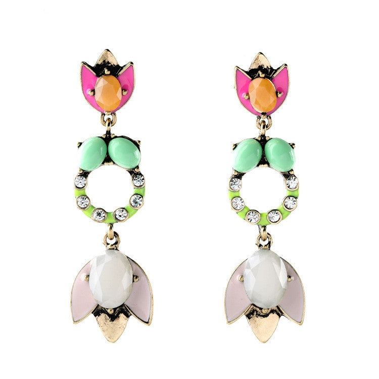 Women Christmas Jewelry Summer Rural Style Fashion Tide Drop Earrings