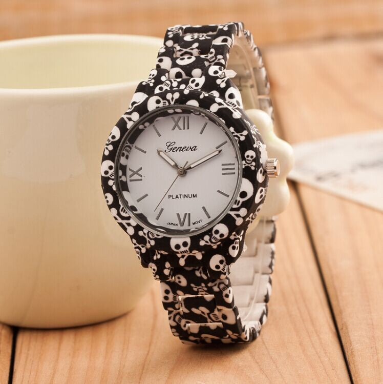 Women Watch Fashion Casual Plastic Flower Geneva Quartz Watch Elegant Popular Women Wristwatch Relogio Feminino Clock