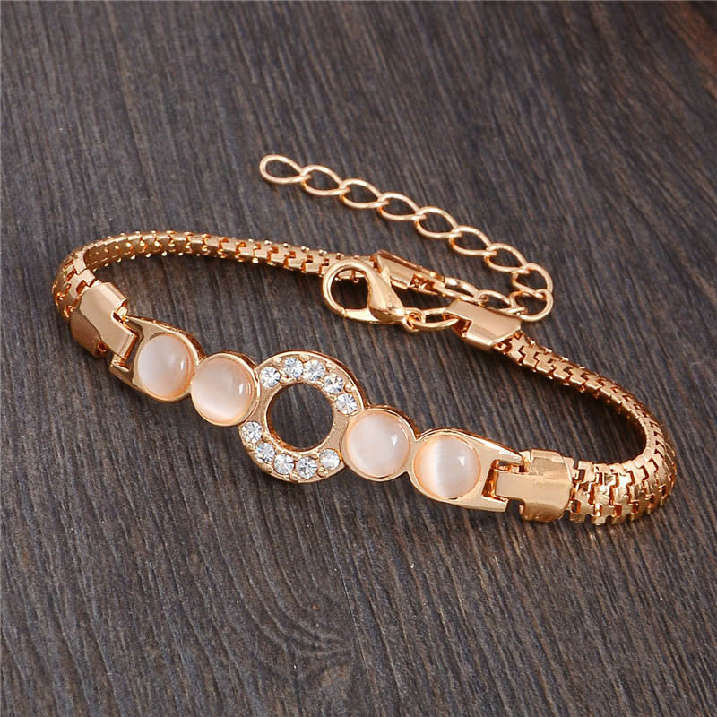 Wonderful design jewelry 13 Style 18k Gold Filled charming Opal Austrian crystal Bracelet for Women gifts