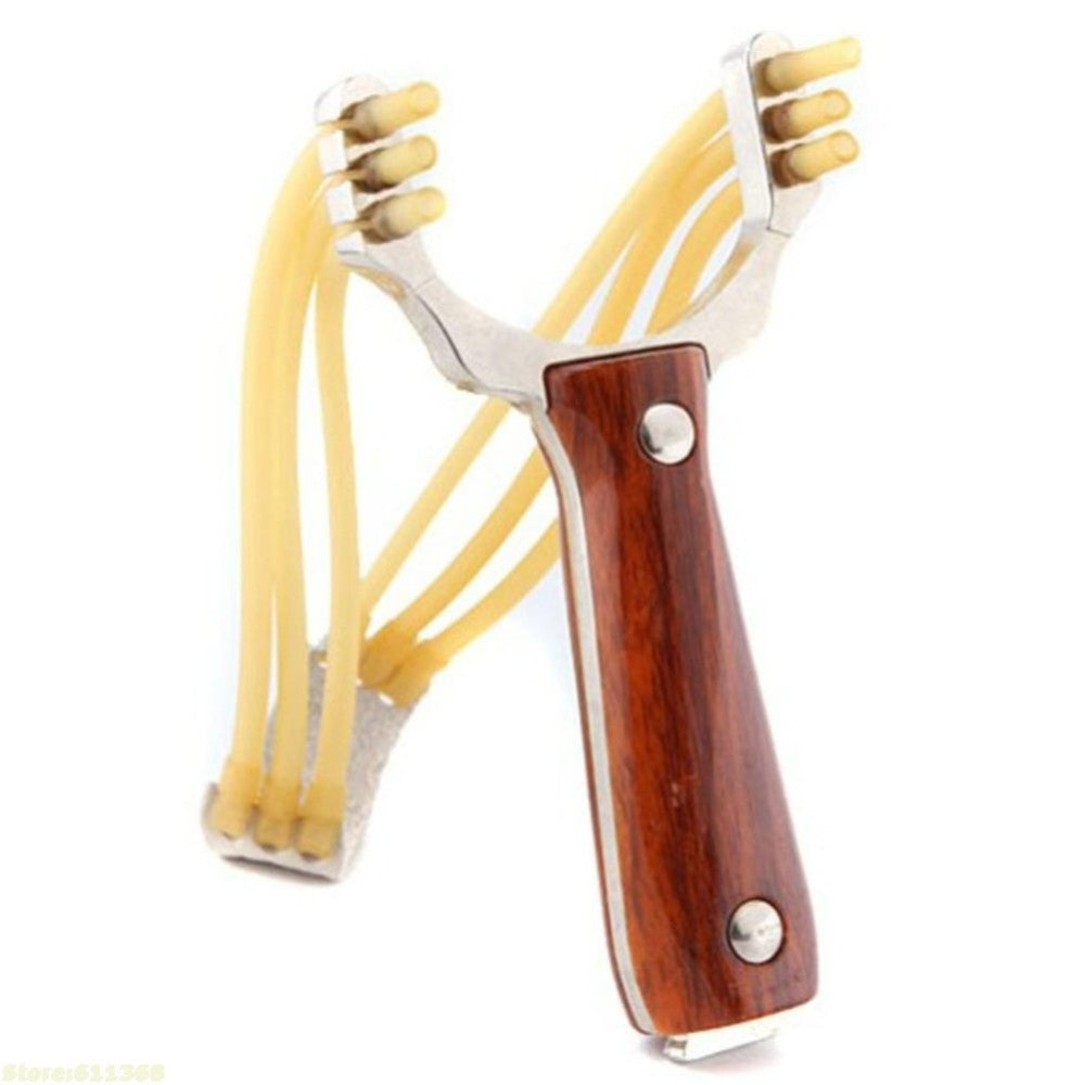 Wood Pattern Handle Hunting slingshot With slingshot rubber band sling shot For outdoor And Competetion