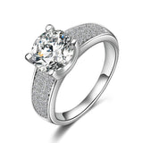 Hot Selling Golde/Silver Plated Micro Inlay Cubic Zircon Wedding Rings
