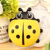 Cute Funny Cartoon Yellow/Red/Blue/Green Ladybug Sucker Suction Hook Tooth Brush Holder