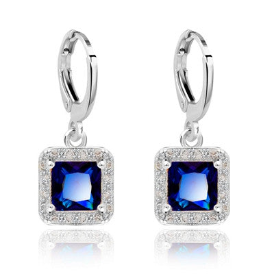 New Hot Sale Gold Plated Zircon Gem Big Brand earrings Small Dangler for Women Fashion Jewelry