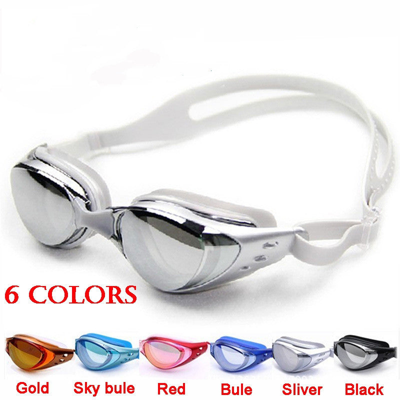Anti-fog mirrored Adjustable Eyeglasses men women unisex coating swimming glasses adult goggles