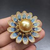 South sea gold pearls brooches and Could be used as a pendant