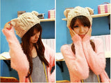 Cat ears cute hats for women brand knitting warm korean fashion hot selling lovely beanies winter knitted cap