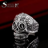 skull ring men stainless steel Hip-hop retro punk personality biker jewelry