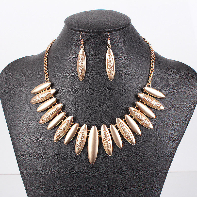 Fashion Jewelry Sets Punk Style High Quanlity Gold Necklace Party Jewelry