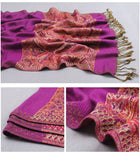 India hot sale new air conditioning room warm winter women shawl chaddar pashmina national wind cashew spend