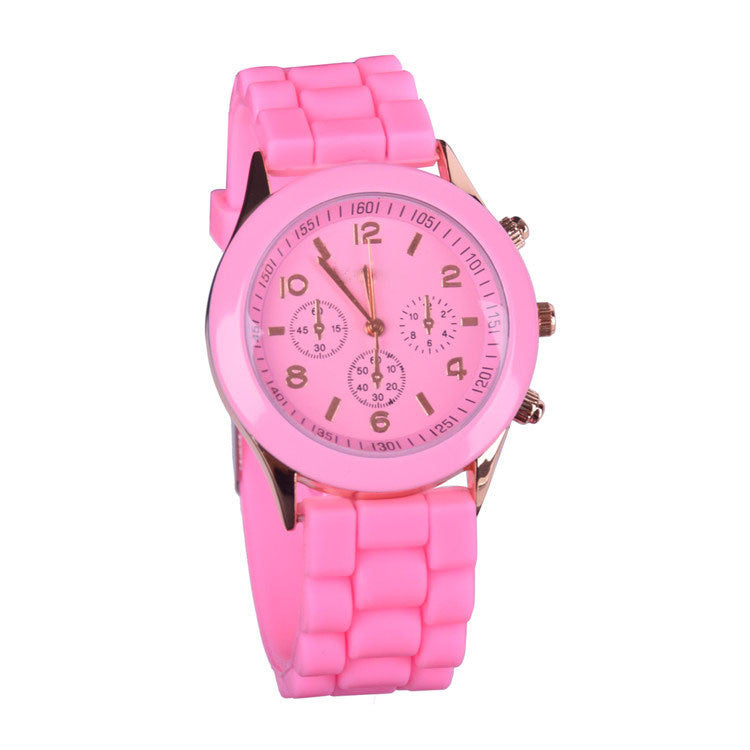 Hot sale relogio feminino Silicone watch women ladies fashion dress quartz-watch wrist Watch