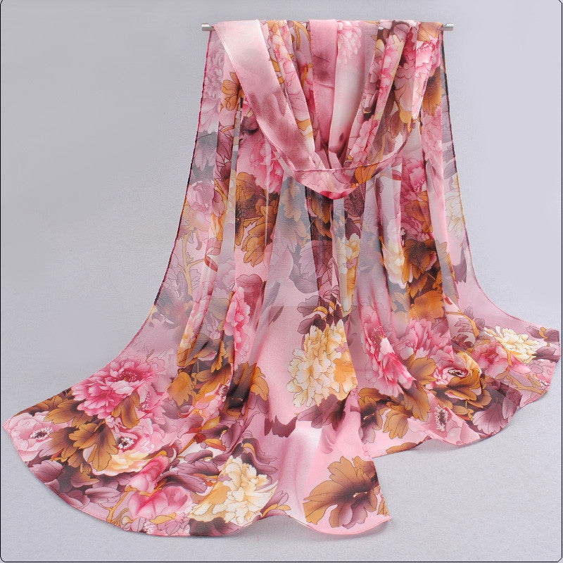 India hot sale new women for 4 seasons scarves polka velvet chiffon bohemia flower fashion summer