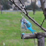 natural opal stone dreamcatcher keyring fashion silver boho jewelry feather keychain for women