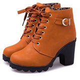 New brand platform high heel single shoes vintage Women Motorcycle Boots Martin Boots