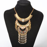 new Fashion maxi Statement Necklace & Pendant women Gypsy Vintage Choker Collar Ethnic bohemian necklace women fine jewelry