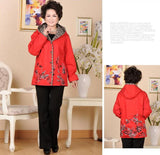 New arrival embroidered middle-age women jackets mother clothing spring and autumn